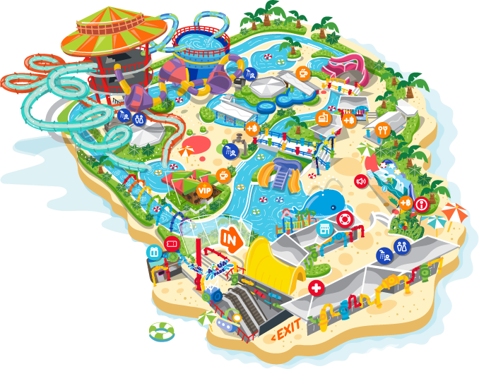 Map | Pororo AquaPark Bangkok