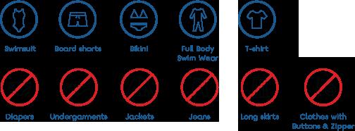 Only swimwear allowed inside the waterpark.
