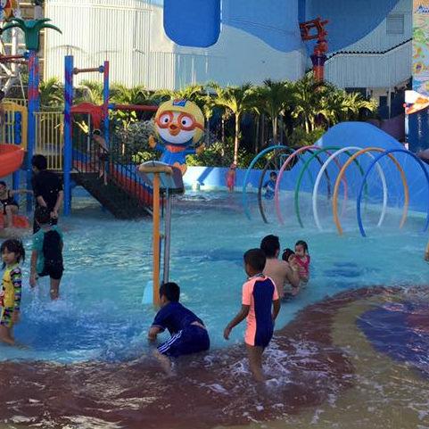 บรรยากาศสุดฟิน เด็กเล่นน้ำฟรี!!! | Pororo AquaPark Bangkok